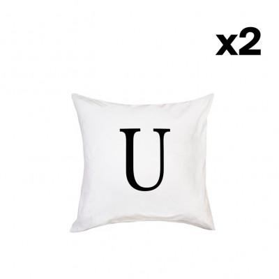 2er-Set Kissenbezügen | U