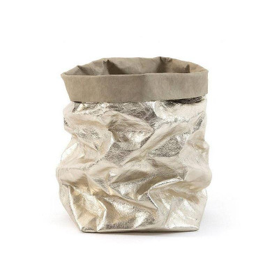 Metallic Paper Bag | Sabbia & Platino
