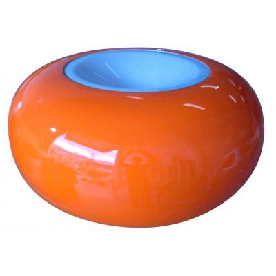 Ufo-Tisch Orange/Weiß
