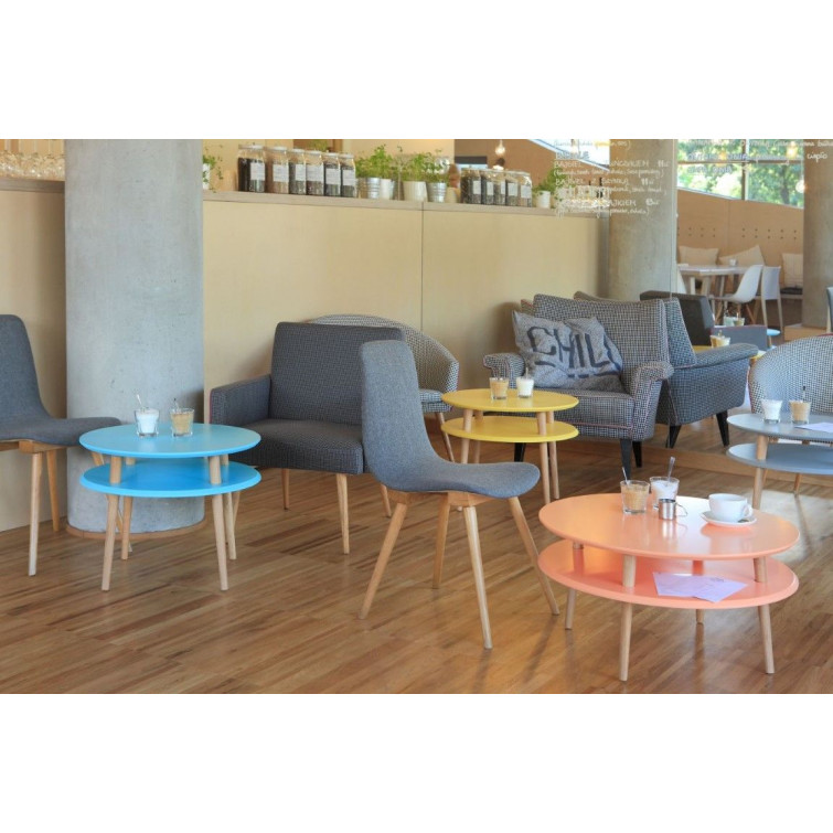 Round Coffee Table UFO   Light Turquoise