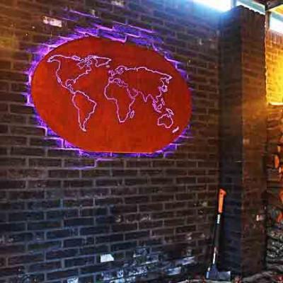 Rusted Worldmap