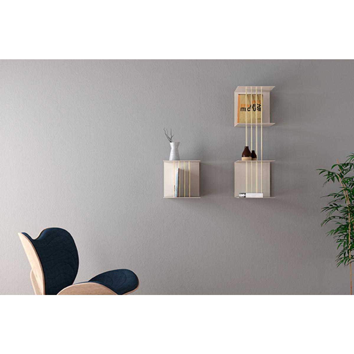 Extra Space Rods / Shelf Divider for Teaser Shelf | Brass