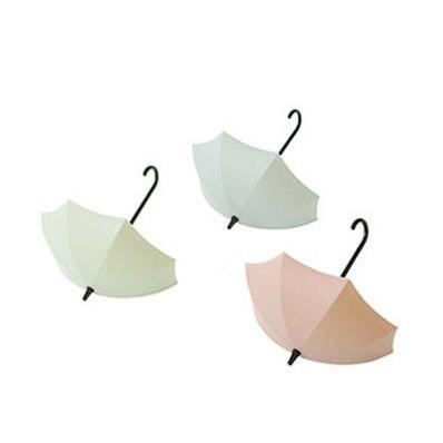 Wall Hooks Umbrella Set of 3 | Green, Blue & Pink