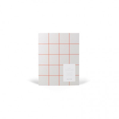 Uma Flat Lay Paper Notebook   Light Grey