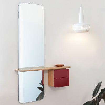 Spiegel One Look | Eiche | Rubinrot
