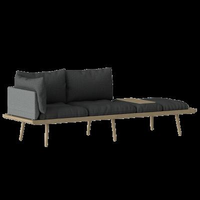 3-Sitzer-Sofa Lounge Rund   Eiche