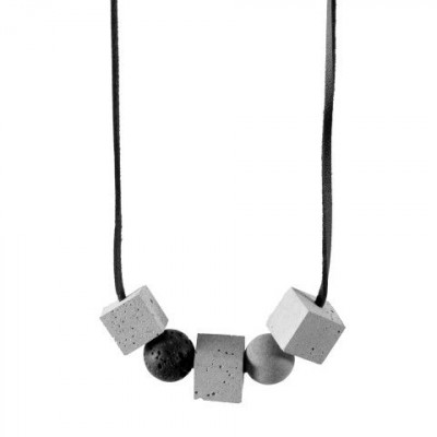 Halskette UNIQUENESS | Grau & Schwarz