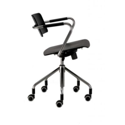 Stuhl mit Rollen Vertigo | Schwarz