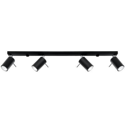 Deckenlampe Ring 4L | Schwarz