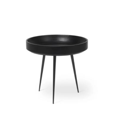 Beistelltisch Bowl Small | Schwarz Gebeiztes Mangoholz