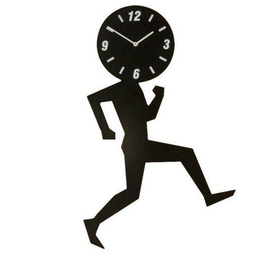 Uomino Wall Clock Black