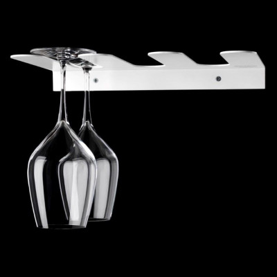 Upside Down Glass Rack | White
