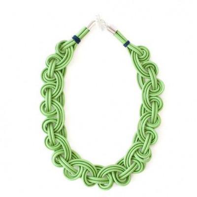 Textile Necklace | Light Green