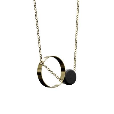 Halskette Utrum | Schwarz & Gold