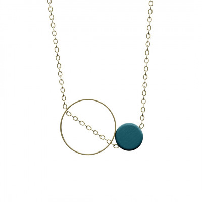 Halskette Utrum | Petrol & Gold