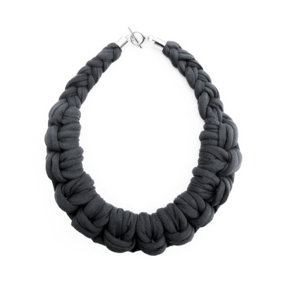 Knotted Necklace | Dark Grey