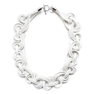 Textile Necklace | Off-White