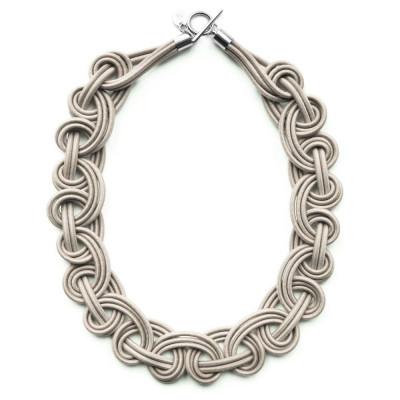 Textile Necklace | Cream