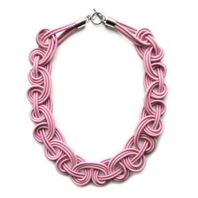 Textile Necklace | Light Pink