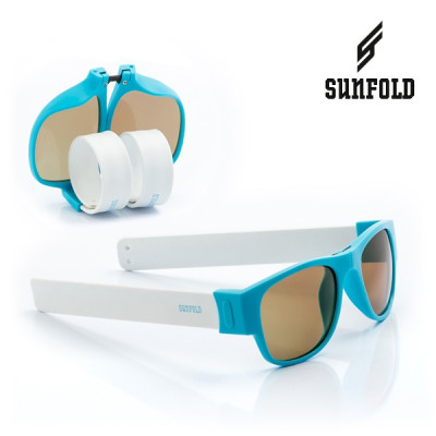 Aufrollbare Sonnenbrille Sunfold PA2 | Weiß-Blau