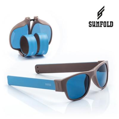 Aufrollbare Sonnenbrille Sunfold AC3 | Grau Blau