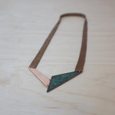 Necklace V | Copper & Green-blue