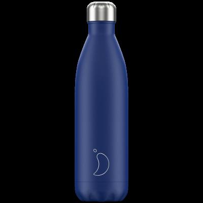 Mehrwegflasche Matte   Blau