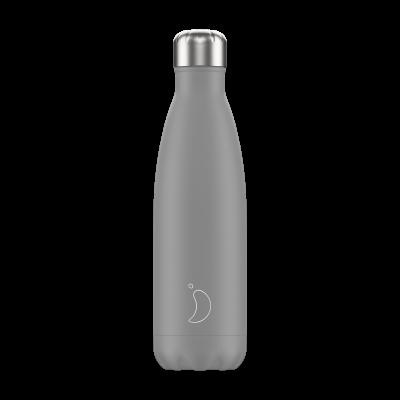 Mehrwegflasche Monochrome   Grau