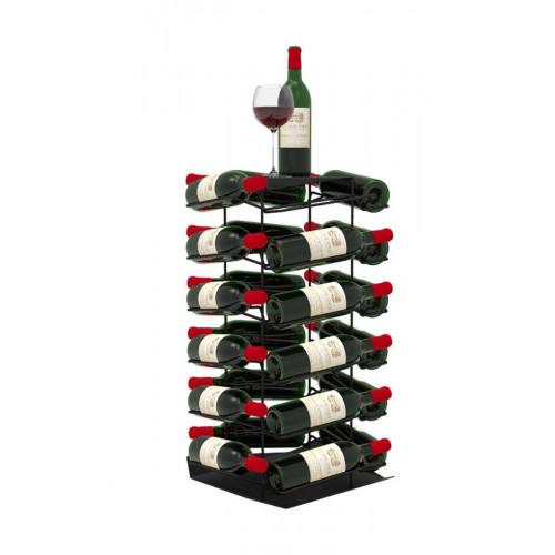 VINCENT Wine Rack 24 Bottles   Black