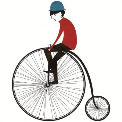"""Pfefferland-Magnet """"Mann auf dem Fahrrad"""""""