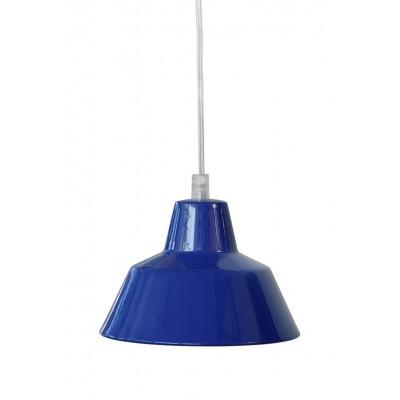 Werkstattlampe Blau
