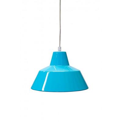 Werkstattlampe Türkis