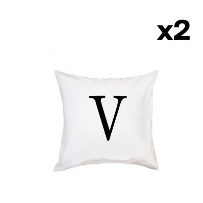 2er-Set Kissenbezügen   V