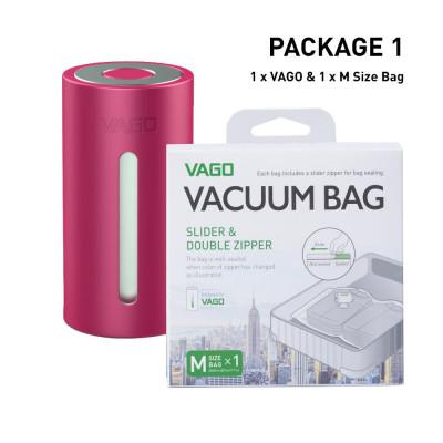 Vago Luggage Compressor   Pink
