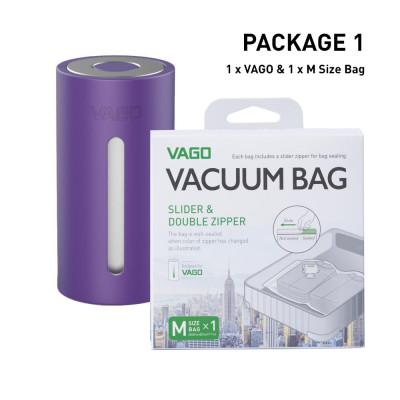 Vago Luggage Compressor   Purple