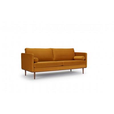 Sofa Vangen   Ockergelb   Eichenfurnier Beine