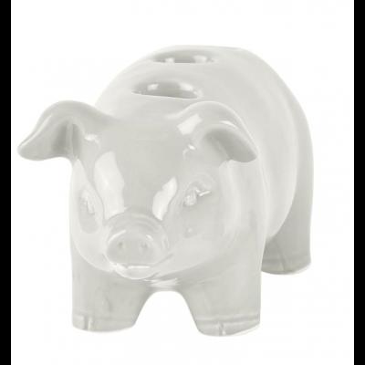 Candle Holder Pig Large | White