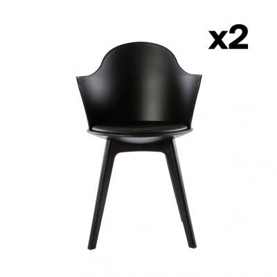 2-er Set Esszimmerstühle Varsavia | Schwarz