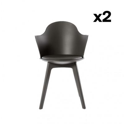 2er-Set Esszimmerstühlen Varsavia   Grau