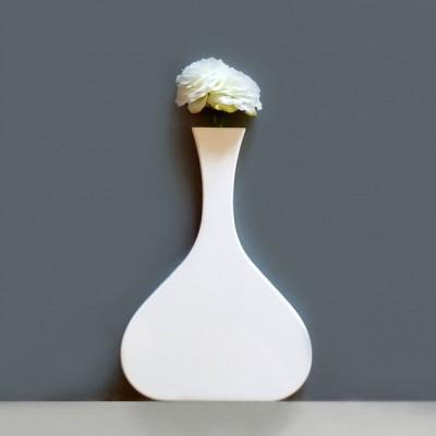 Vanity Long Neck Wall Vase White