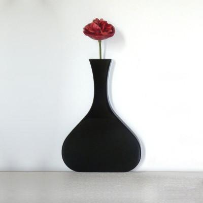 Vanity Long Neck Wall Vase Black