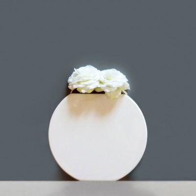 Vanity Round Wall Vase White