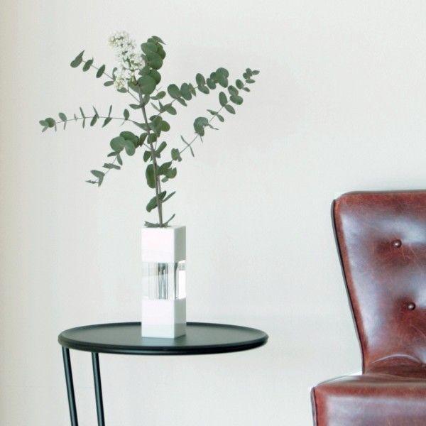 Crystal Vase | White/Clear/White