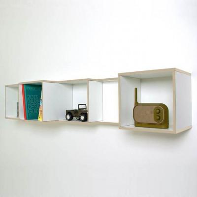 V-Box Bücherregal | Beige/Weiß