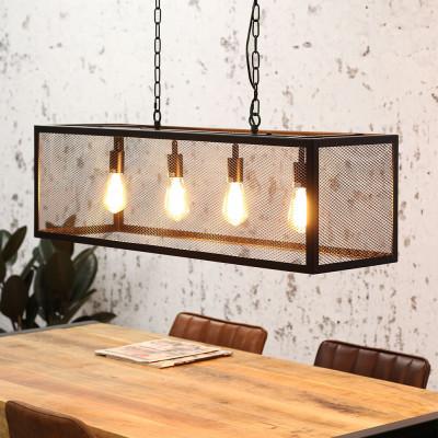 Pendant Lamp Granja 4 Lights   Black
