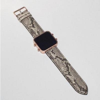 Digital Watch | Rose Gold, Serpent Bracelet