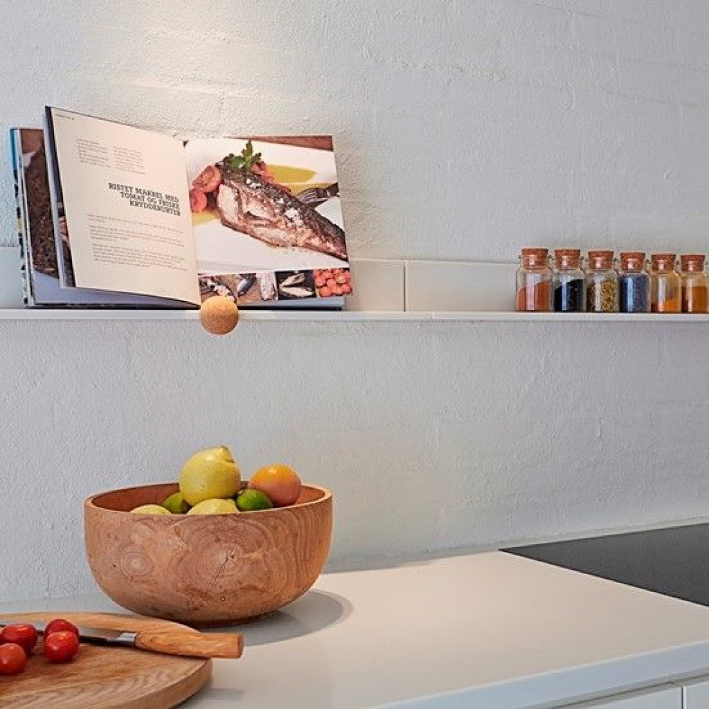 STRAIGHTS Book/Tablet Panel | Glacier White