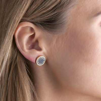 Earrings Round | Gold