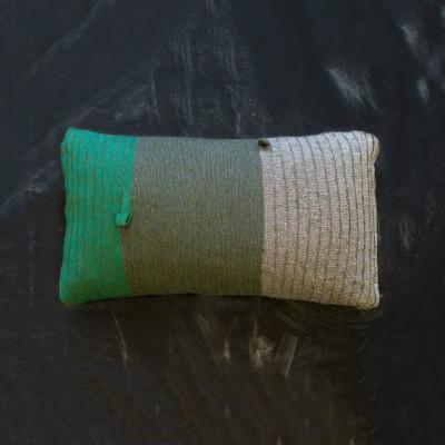 Loop Pillow | Green Grey