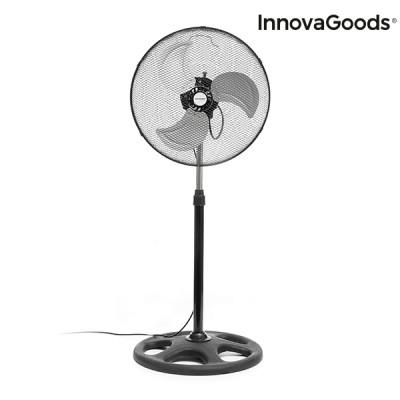 120° Rotierender Standventilator 55W | Schwarz